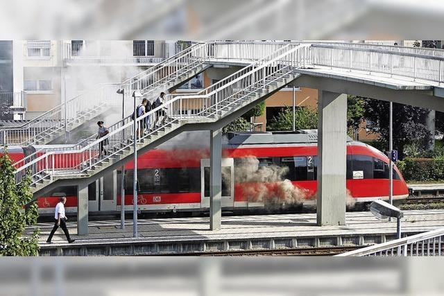 Brand legt Bahn lahm