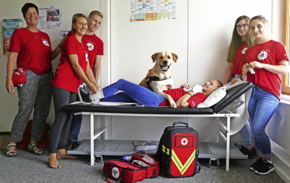 Ein Teil vom Team (v. l.): Daniela Kir...ner, Laura Ecke und Sarah Zimmermann.     Foto: Susanne Ehmann