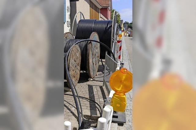 Telekom verlegt Glasfaserkabel