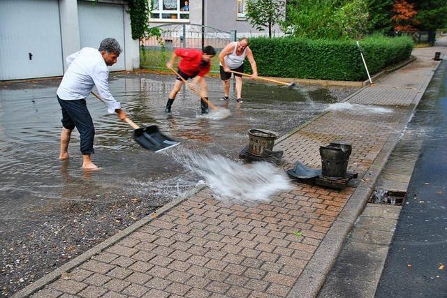 Heftiges Gewitter über Bötzingen