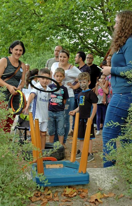 Wenn Mama und Papa gemeinsam mit dem Nachwuchs lustige Spiele <ppp></ppp>  | Foto: Regine Ounas-Kräusel