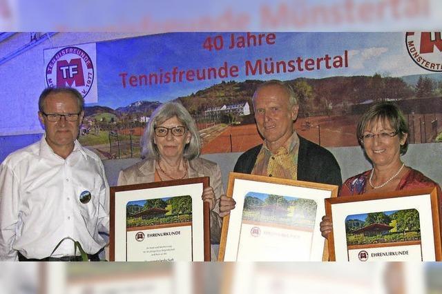 Tennisfreunde feierten 40. Geburtstag