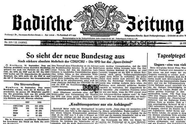 Bundestagswahl 1957: Auszüge aus der BZ-Berichterstattung