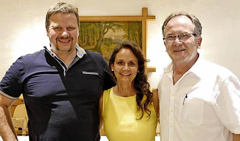 Das Freilichtprojekt des Theaterverein...Corinna Vogt und Architekt Rolf Boll.   | Foto: Privat