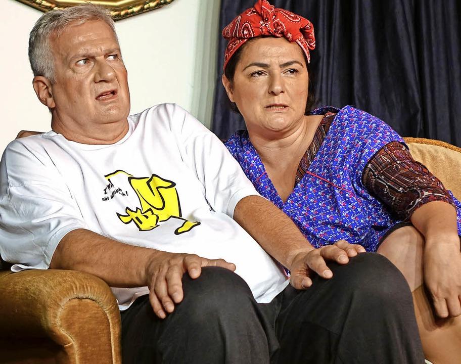 Wilma und Willi in der frechen  Komödie Ehekracher.   | Foto: Roswitha Frey