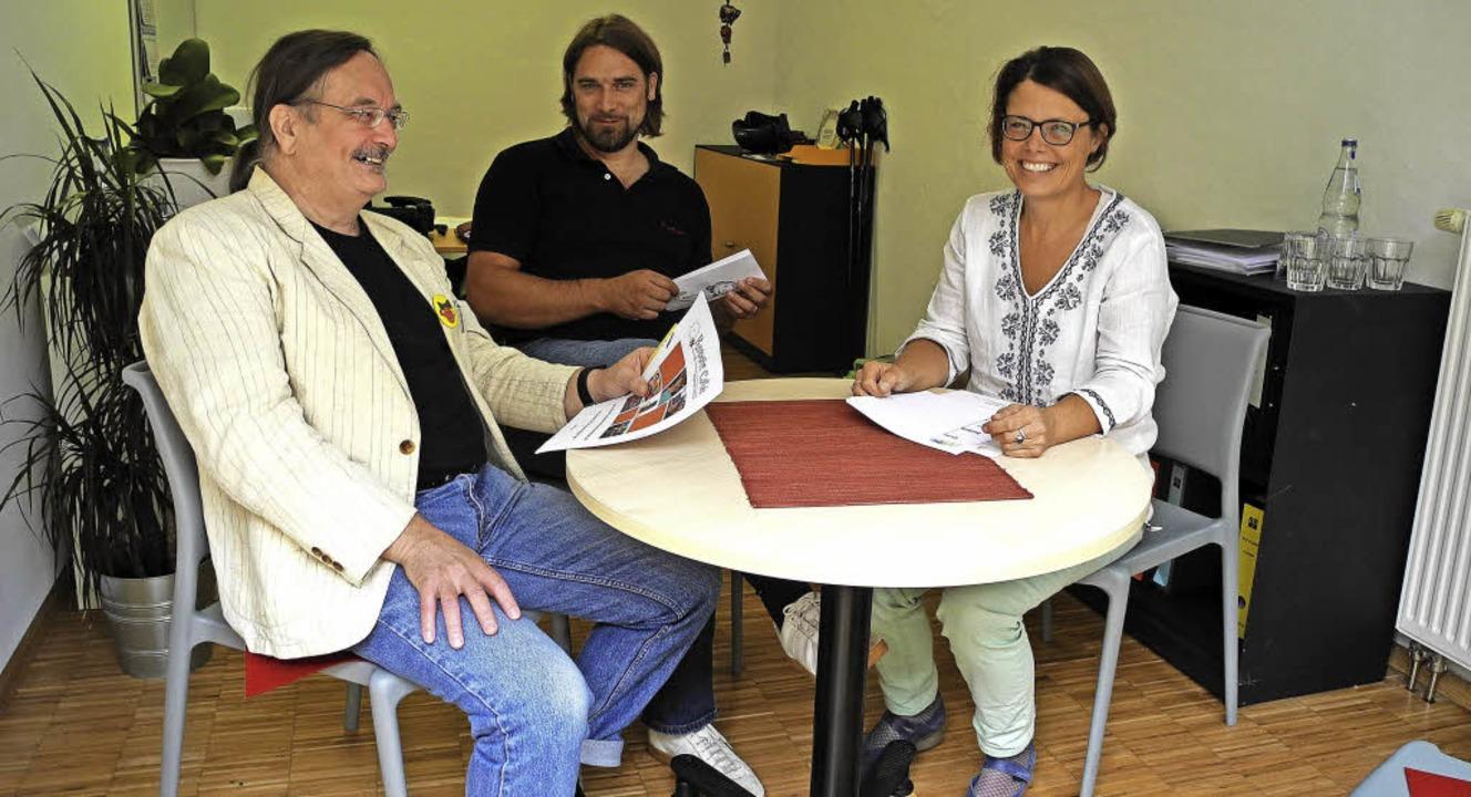 Der Ideengeber fürs Repair Café Friede...Olerth und  Stefanie Aatz (von links).    Foto: Sigrid Umiger