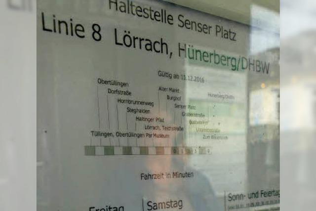 Wie geht es mit der Buslinie 8 in Lörrach weiter?