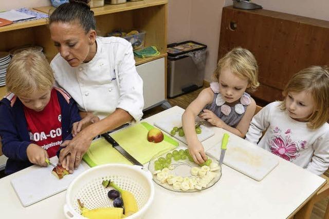 Sie kochte einst im Hilton in London - und jetzt für Kita-Kinder in Freiburg