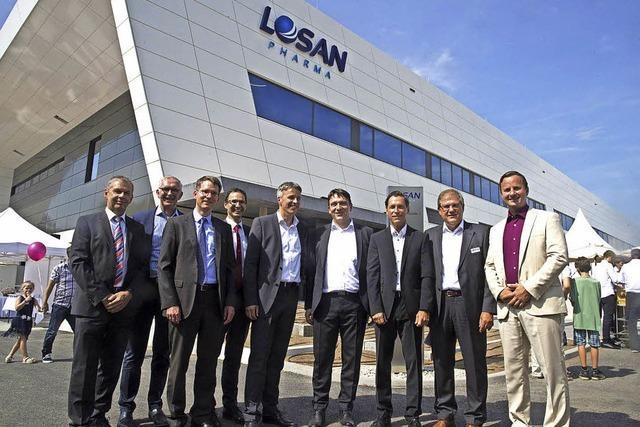 Neuenburger Pharmafirma Losan weiht ihre neue Betriebsstätte im Gewerbepark Breisgau ein
