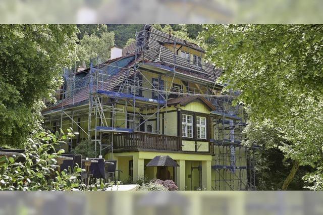 Das Lettische Haus am Rande der Stadt
