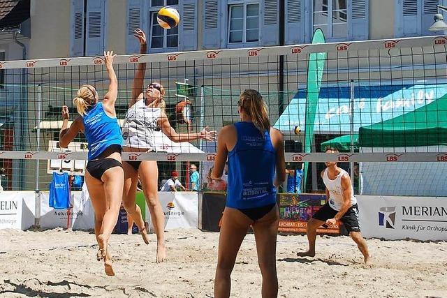 Strandsport inmitten der Stadt Lörrach
