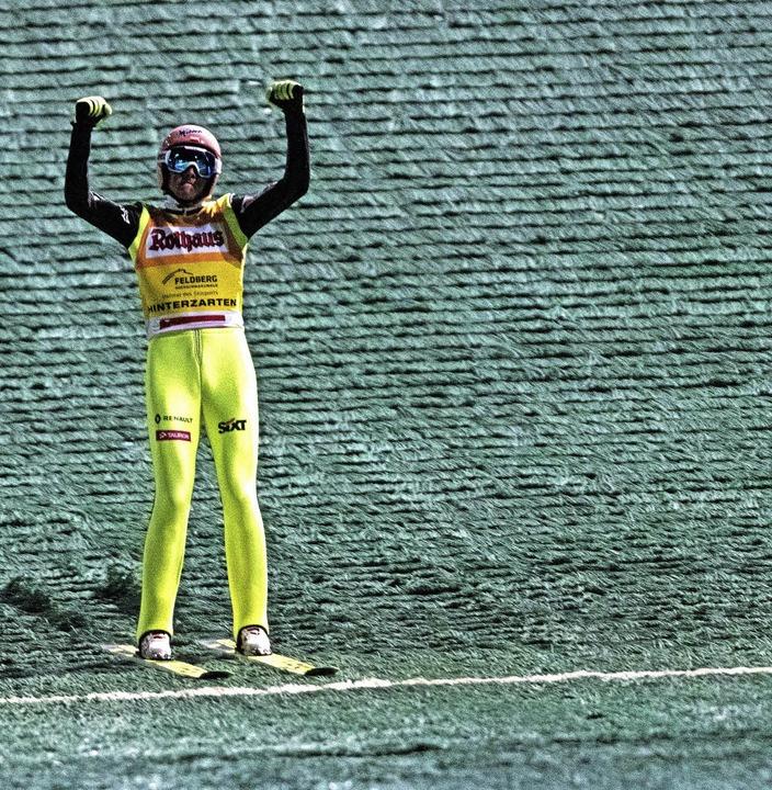 Siegessicher: Der Pole Dawid Kubacki gewann den Sommer-Grandprix.  | Foto: Patrick Seeger