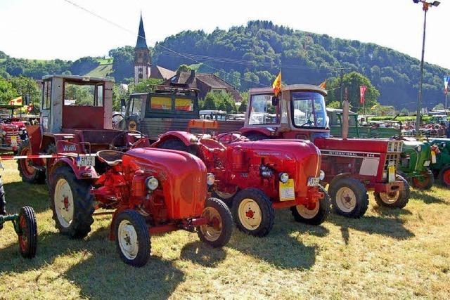 Große Leidenschaft für alte Traktoren