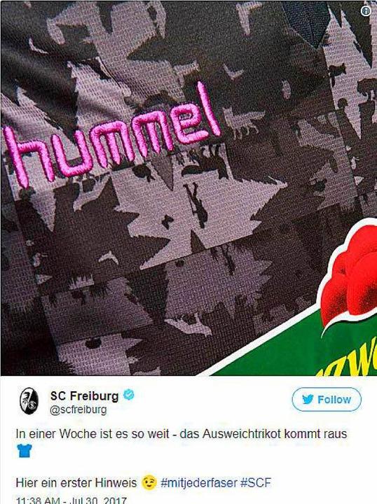 Dieses Bild veröffentlichte der SC Freiburg auf Twitter.  | Foto: Screenshot Twitter - SC Freiburg