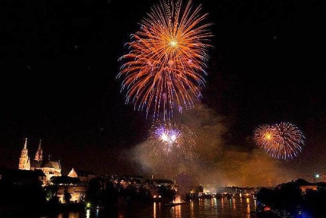 Basel feiert Eidgenossenschaft mit Feuerwerk