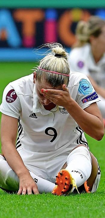 Nicht zu fassen: Mandy Islacker rätsel...e Leistung bei der EM so schwach war.   | Foto: AFP