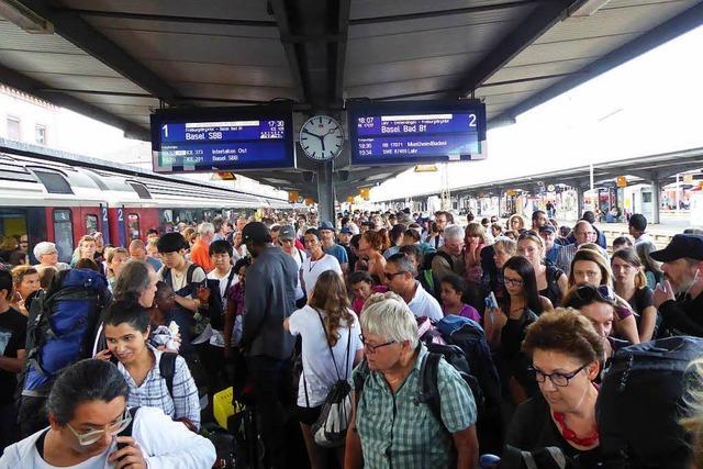 Ausnahmezustand am Offenburger Bahnhof nach Oberleitungsschaden