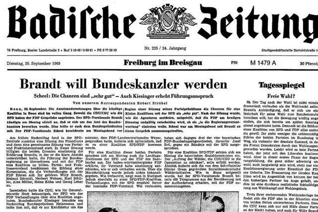 Bundestagswahl 1969: Auszüge aus der BZ-Berichterstattung