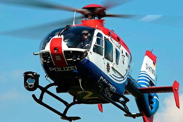 Beziehungsstreit löst Großeinsatz mit Hubschrauber und Suchhunden bei Rheinau aus