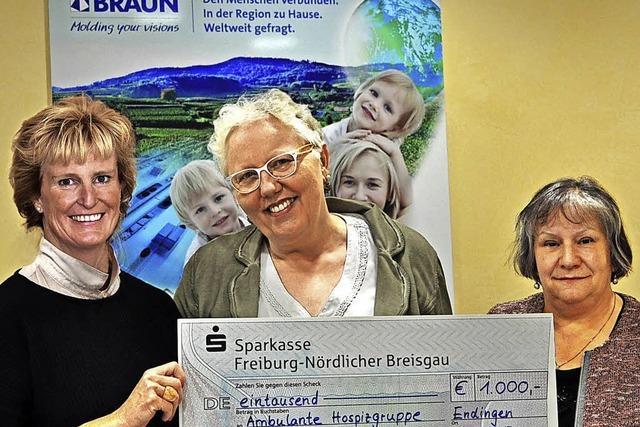 1000 Euro für Hospizgruppe