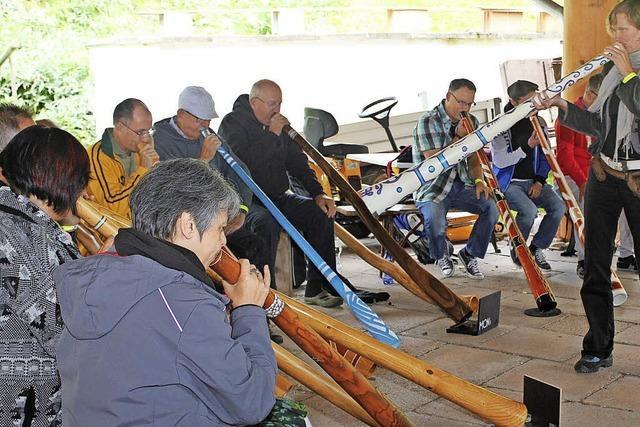 Mit Didgeridoo-Workshops in Eisenbach