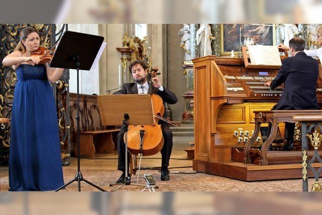 Seltene Symbiose zwischen Orgel und Streichinstrumenten