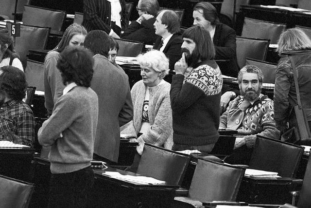 Wie die Grünen erstmals in den Bundestag einzogen