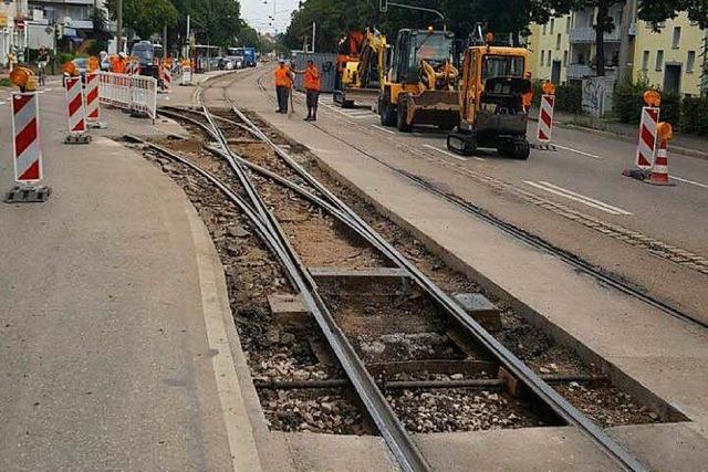Von Freitag bis Sonntag fahren keine Trams nach Zähringen