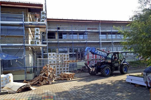 Bauarbeiten während der Ferien