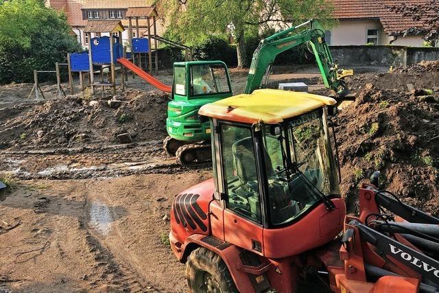 Die Bauarbeiten haben begonnen