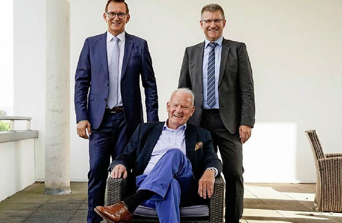 Präsident Duschan Gert (links) und Rai...and, zusammen mit Jo Schraeder (vorne)  | Foto: Patrick von Au