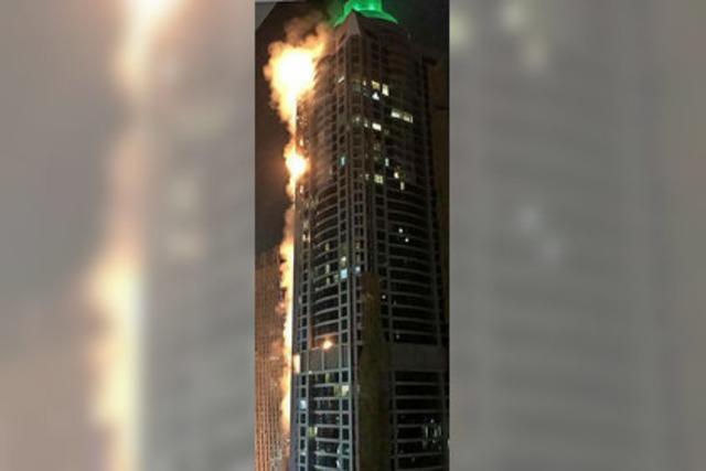 Hochhausbrand in Dubai