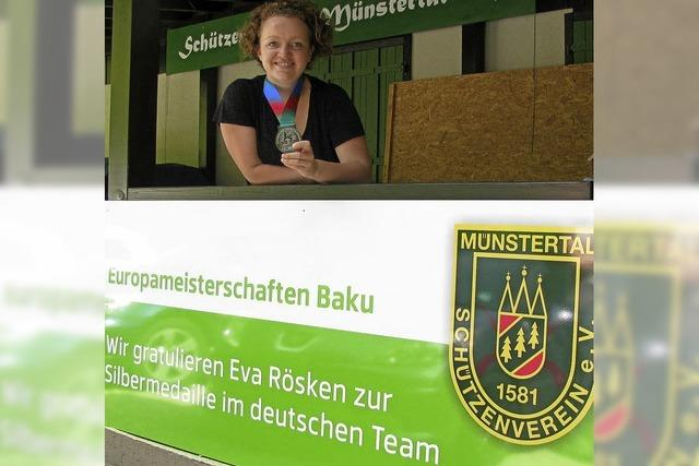 Eva Rösken gewinnt Mannschaftssilber