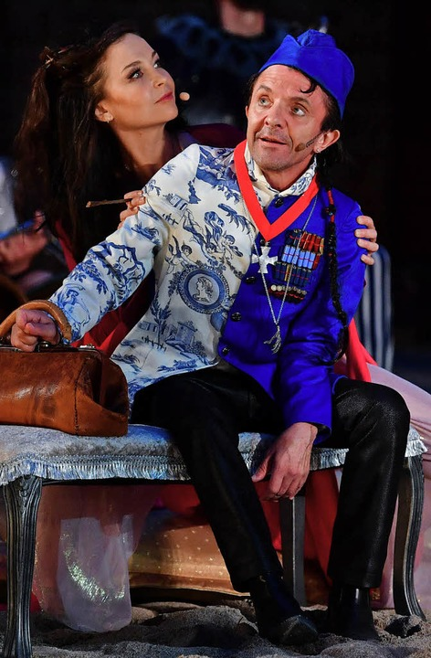 "David Bennent als Monsieur Vulture in Albert Ostermaiers ""Glut""  | Foto: dpa"