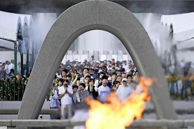 Japan erinnert an Atombombenabwurf