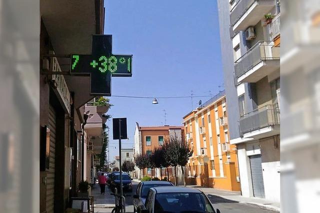 Große Hitze in Santeramo