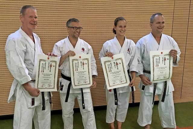 Karateprüfung erfolgreich bestanden