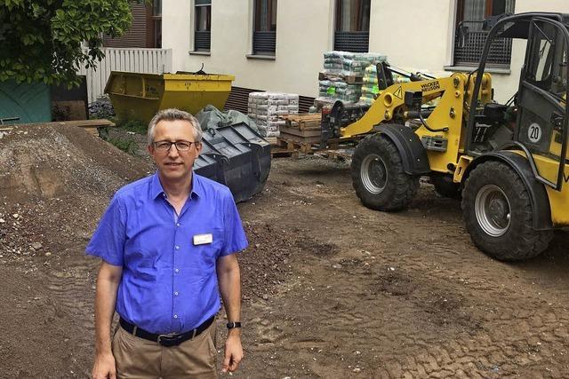 Der Spital-Garten: seit Jahren eine Baustelle