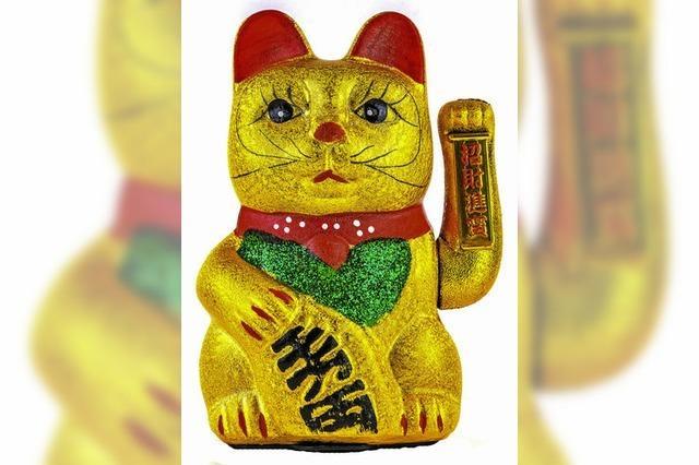 Die Winkekatze hat ihren Ursprung in japanischen Legenden
