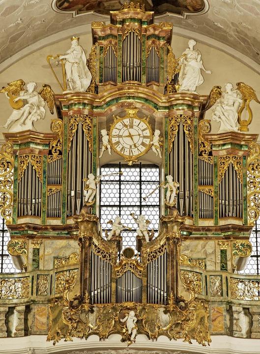 Ein Prachtinstrument der Region: die Klais-Orgel in St. Peter  | Foto: Rombach