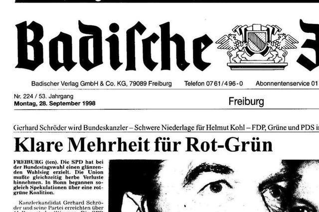 Bundestagswahl 1998: Auszüge aus der BZ-Berichterstattung
