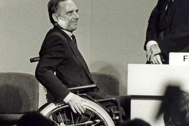 Wolfgang Schäuble und ein schicksalhafter Wahlkampf