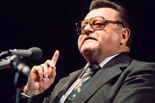 Schmidt und Strauß spalten 1980 die Massen im Wahlkampf