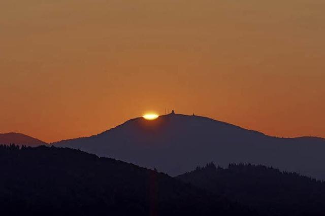 Sonnenaufgang auf dem Ballon d'Alsace