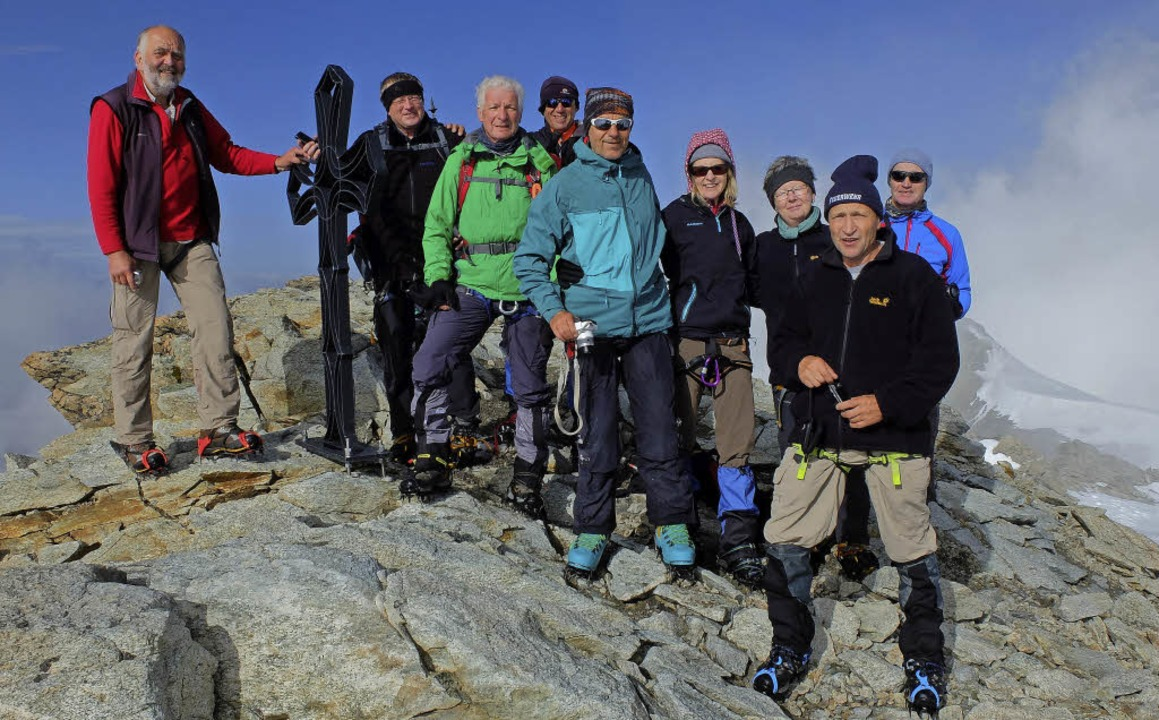 Alpinisten der Bergsteiger Bonndorf un...en das  Val d' Herens im Wallis.  | Foto: Helmut Burger