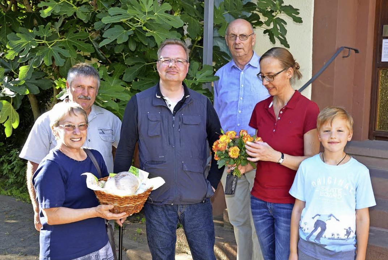 Der neue Hugsweierer und Langenwinkele...r, Jennifer und Jacob Wasmuth-Hödicke.  | Foto: Alfred Arbandt