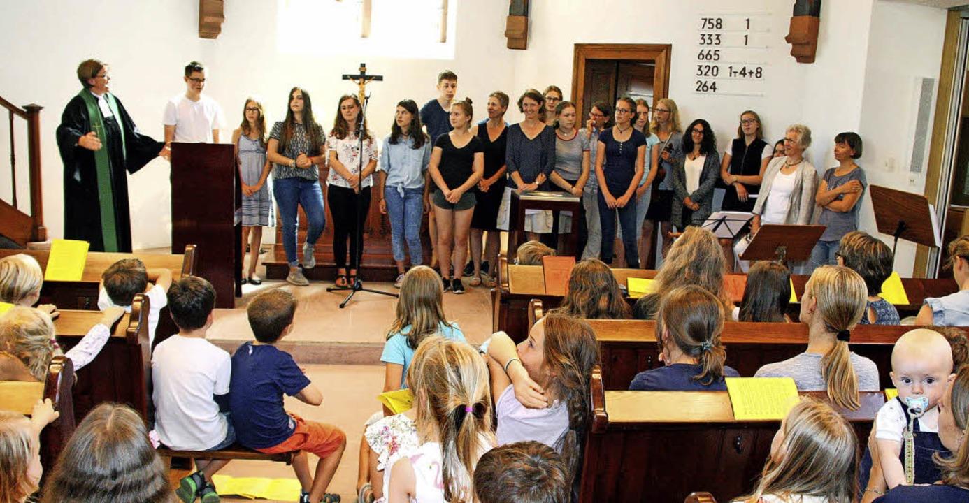 Miteinandergottesdienst zum Abschluss der Kinderbibelwoche    Foto: Ulrike Hiller