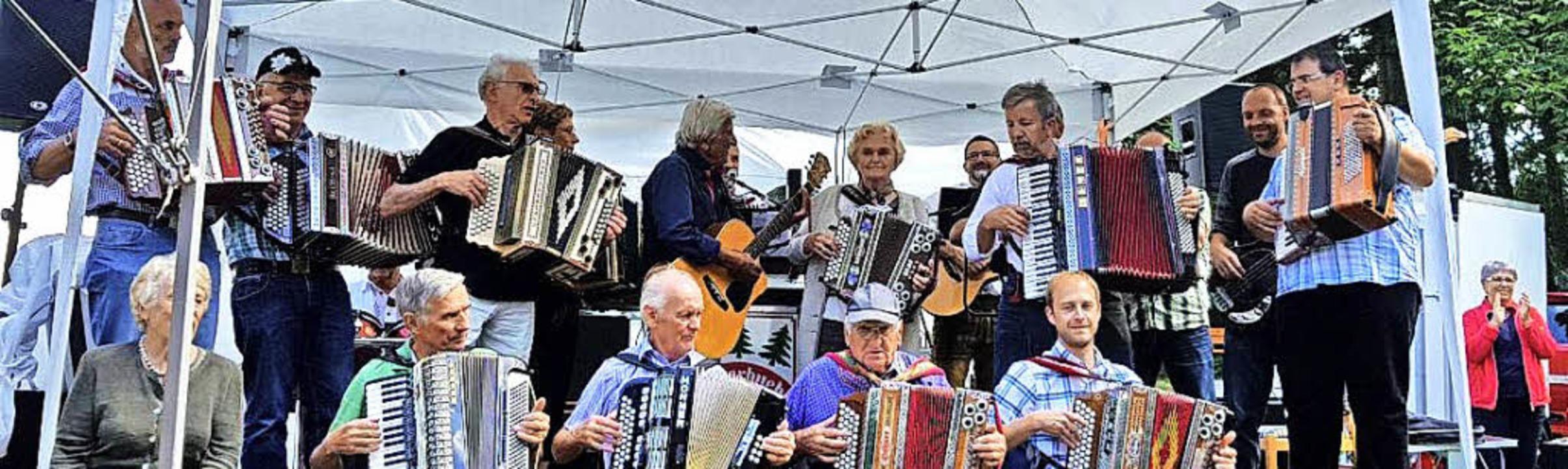 Viele Musiker unterhielten die rund 30...ffen  auf dem Fahrenberg in Breitnau.   | Foto: DIETER MAURER