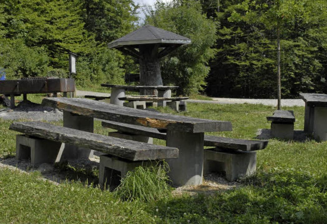 Guter Ort zum Entspannen: Der Grillpla...dem der Spielplatz angeschlossen ist.     Foto: Leony Stabla