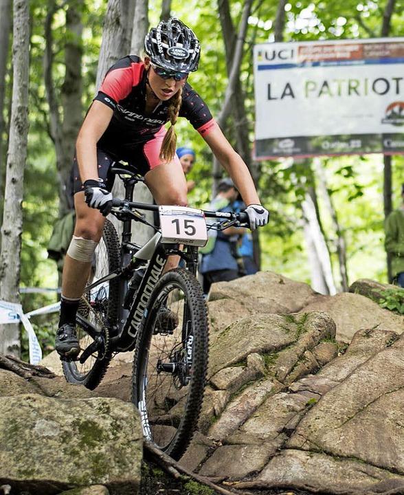 Startnummer 15, Platz 15: Helen Grobert in Mont Sainte Anne  | Foto: Dobslaff